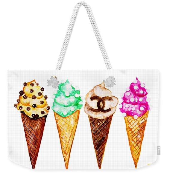 Chanel Poster Art Print  Ice Cream Print Weekender Tote Bag