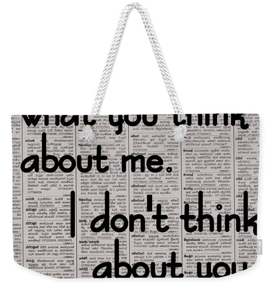 Chanel Quote Weekender Tote Bag