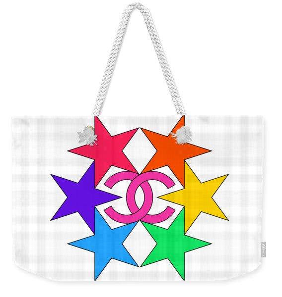 Chanel Stars-15 Weekender Tote Bag