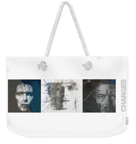 Changes David Bowie Triptych Weekender Tote Bag