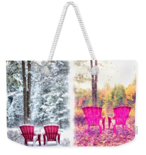 Changing Seasons Anderson Pond Eastman Grantham New Hampshire Weekender Tote Bag