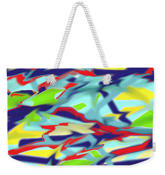 Chaos Into Form Blue Weekender Tote Bag