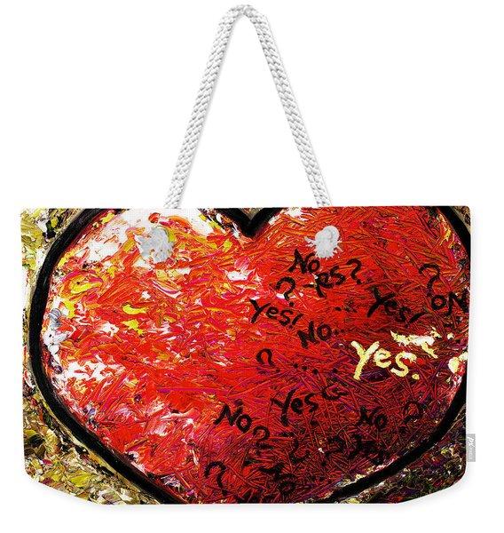 Chaos In Heart Weekender Tote Bag
