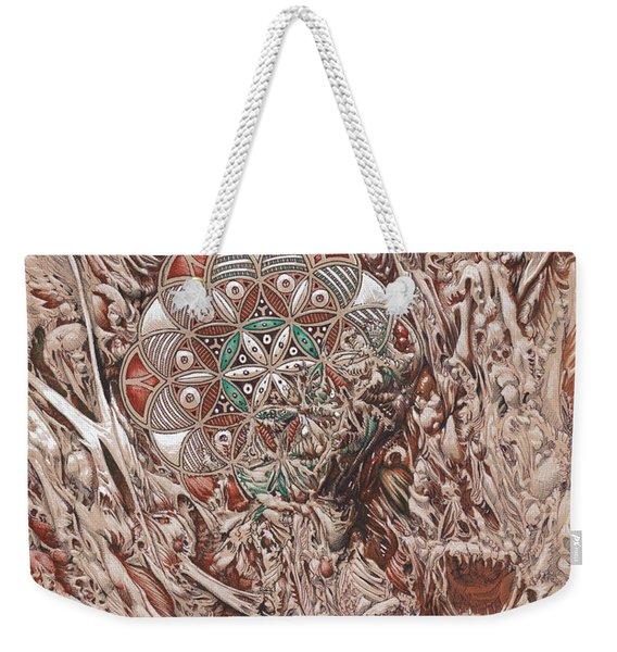 Chaos Mandala Weekender Tote Bag