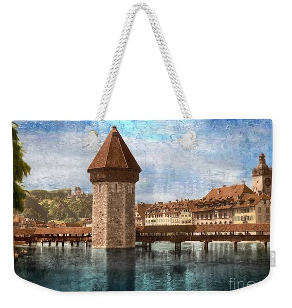 Chapel Bridge In Lucerne Weekender Tote Bag
