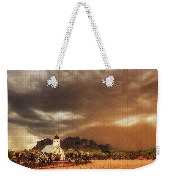 Chapel In The Storm Weekender Tote Bag