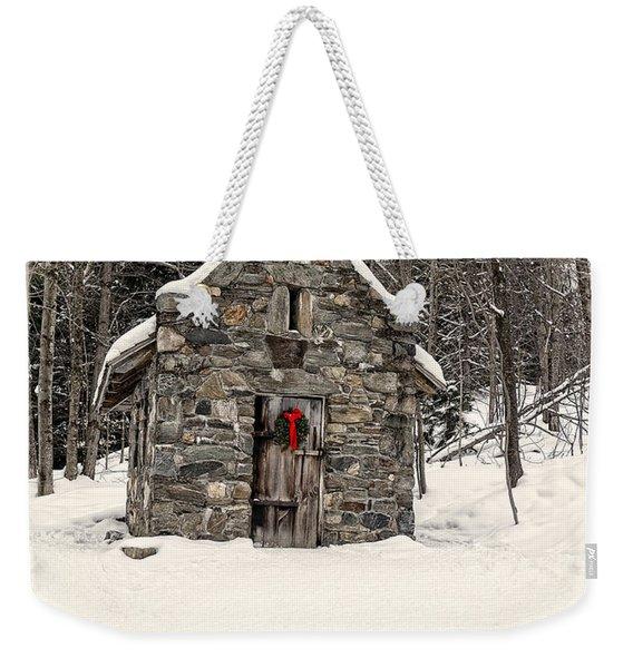 Chapel In The Woods Stowe Vermont Weekender Tote Bag