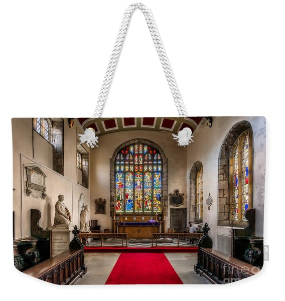 Chapel Stained Glass Weekender Tote Bag