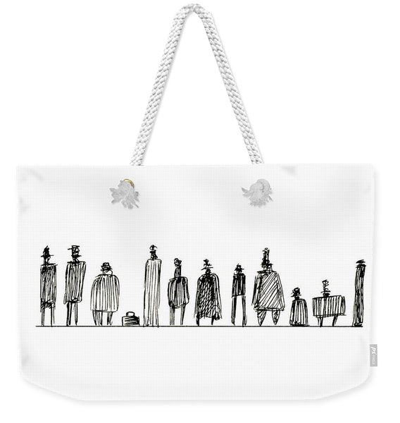 Weekender Tote Bag featuring the photograph Characters 002 Motley Crew by Clayton Bastiani