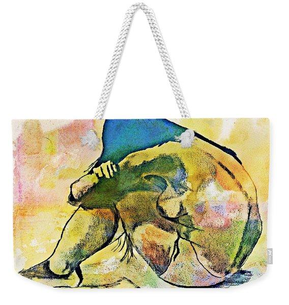 Charcoal Model #4 Weekender Tote Bag