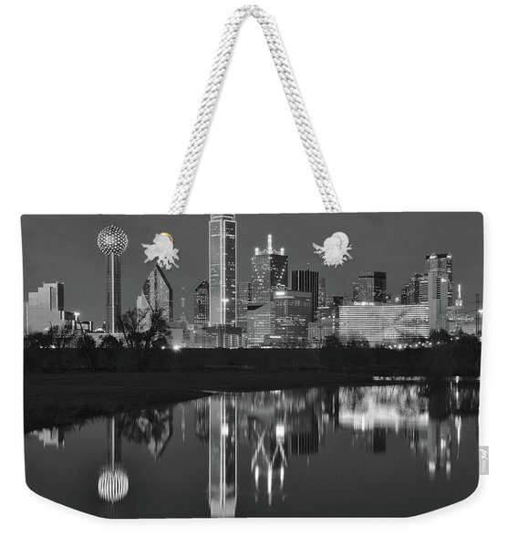 Charcoal Night In The Lone Star State Weekender Tote Bag