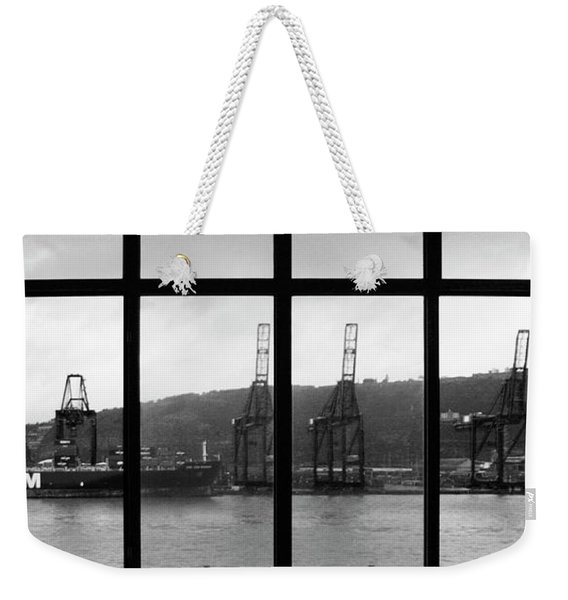 Charging Dock Of Barcelona Weekender Tote Bag