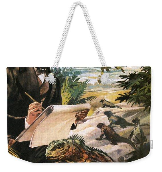 Charles Darwin On The Galapagos Islands Weekender Tote Bag