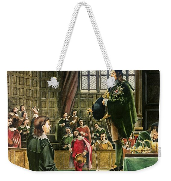 Charles I In The House Of Commons Weekender Tote Bag