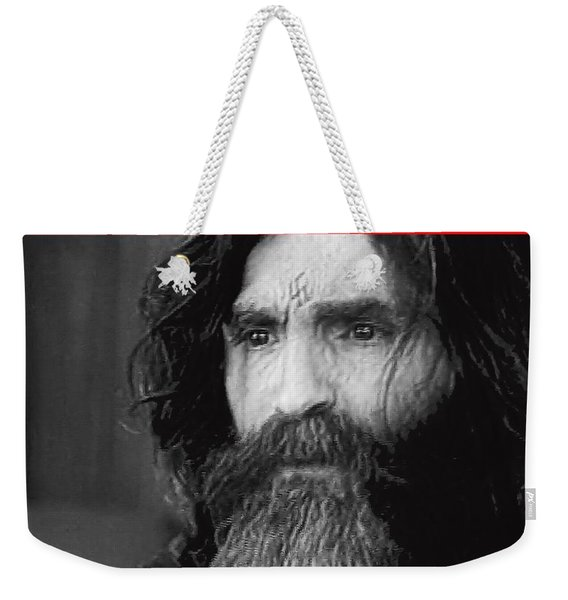 Charles Manson Screen Capture Circa 1970-2015 Weekender Tote Bag