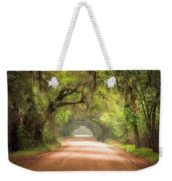 Charleston Sc Edisto Island Dirt Road - The Deep South Weekender Tote Bag