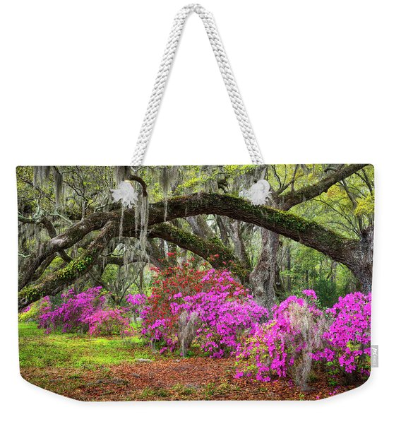 Charleston South Carolina Spring Flowers Lowcountry Landscape Photography Weekender Tote Bag