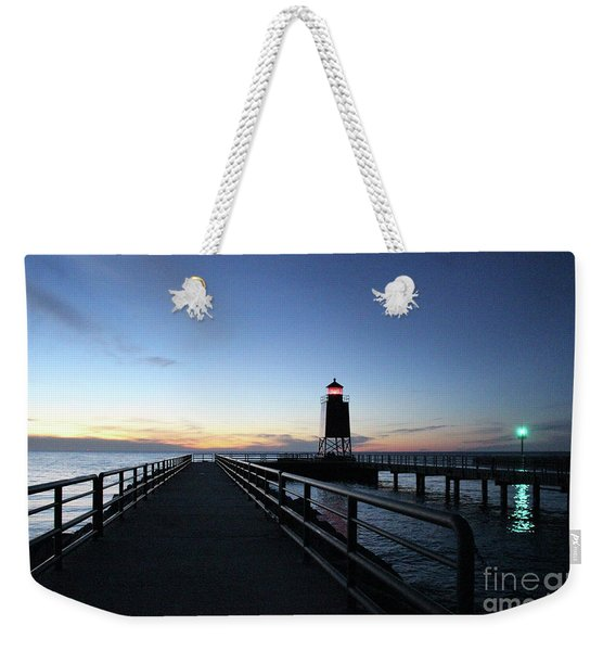 Charlevoix Light Tower Weekender Tote Bag