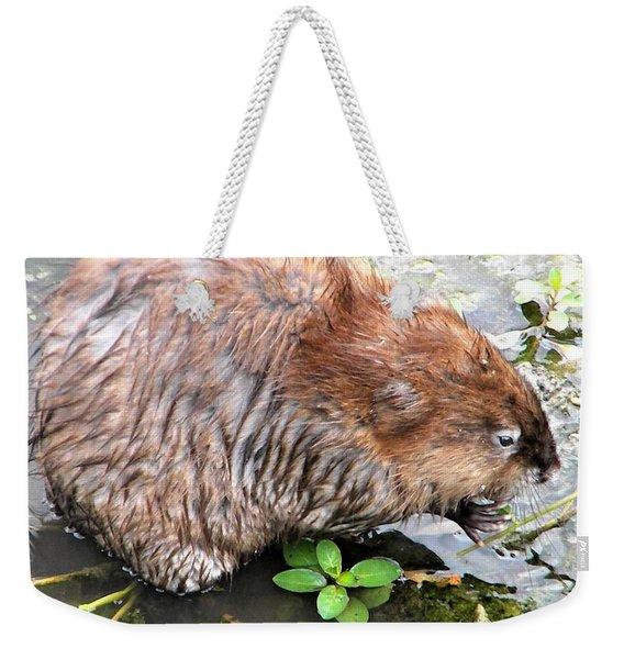 Charley The Muskrat Weekender Tote Bag