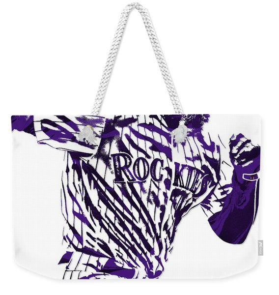 Charlie Blackmon Colorado Rockies Pixel Art 4 Weekender Tote Bag