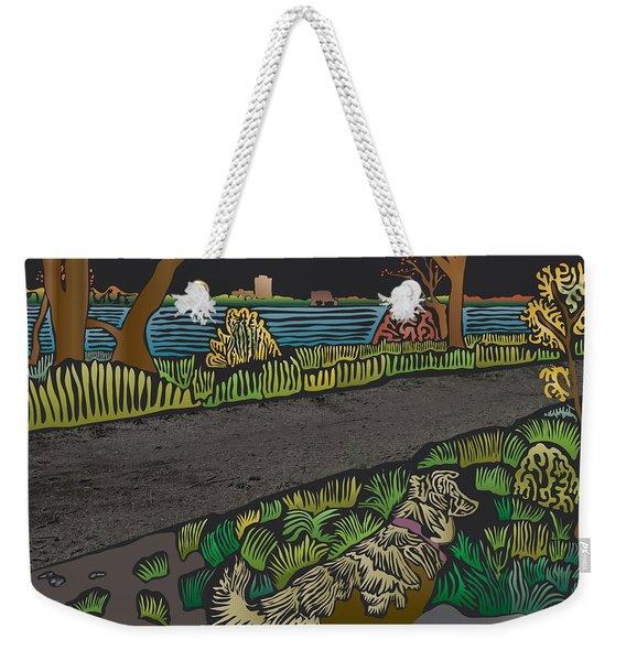 Charlie On Path Weekender Tote Bag