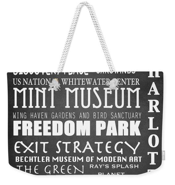 Charlotte Famous Landmarks Weekender Tote Bag