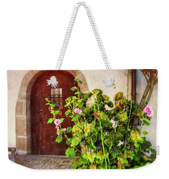 Charming Old Door In Basel  Weekender Tote Bag