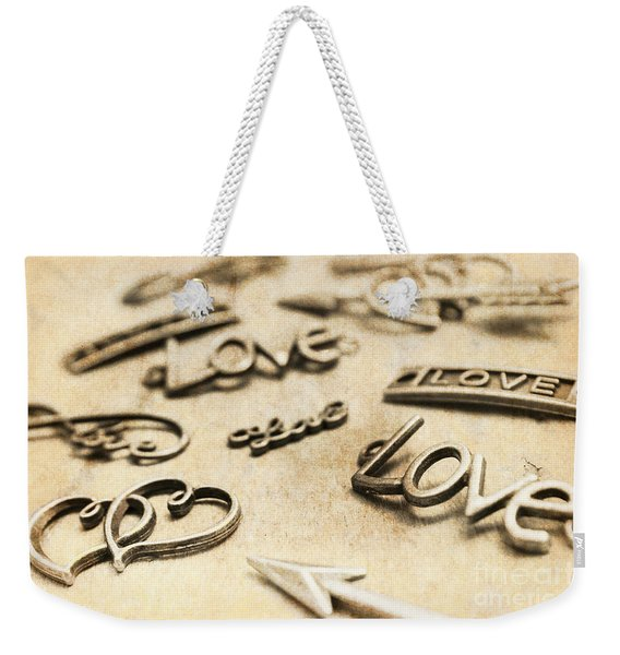 Charming Old Fashion Love Weekender Tote Bag