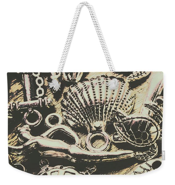 Charming Seashore Symbols Weekender Tote Bag