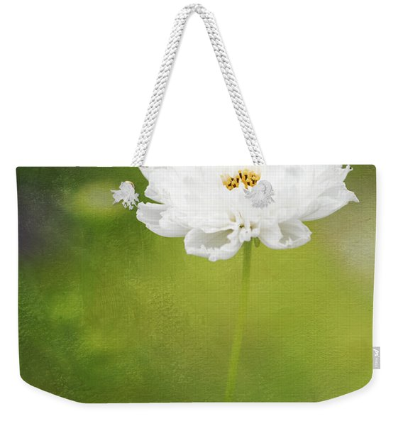 Charming White Cosmos Weekender Tote Bag