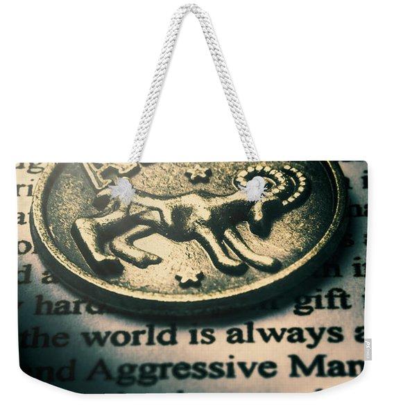 Charting In Aries Weekender Tote Bag