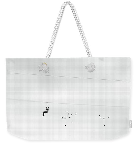 Chased By The Birds Weekender Tote Bag
