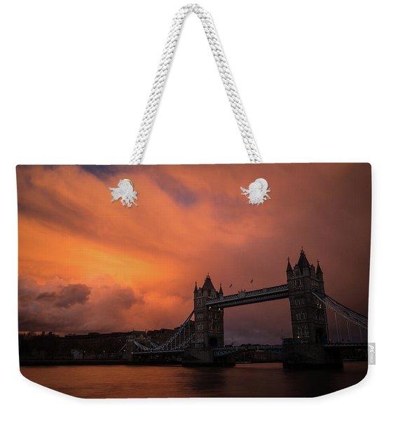 Chasing Clouds Weekender Tote Bag