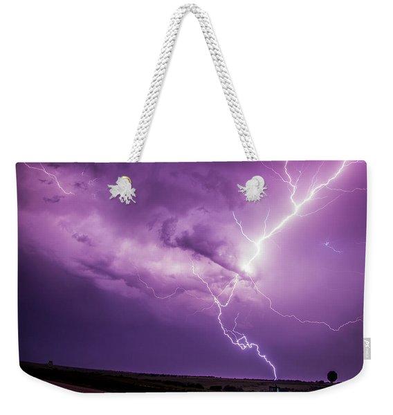 Chasing Nebraska Lightning 018 Weekender Tote Bag