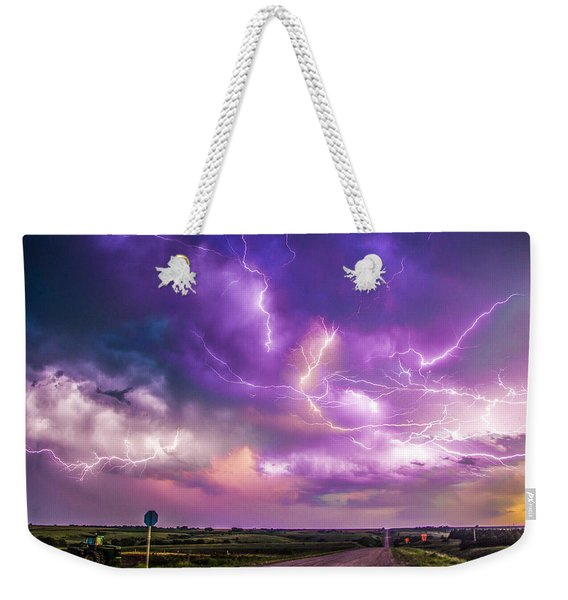Chasing Nebraska Lightning 056 Weekender Tote Bag