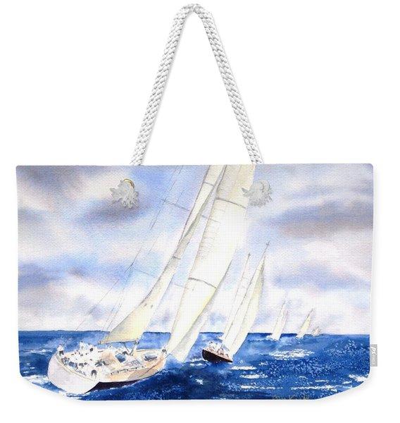 Chasing The Fleet Weekender Tote Bag