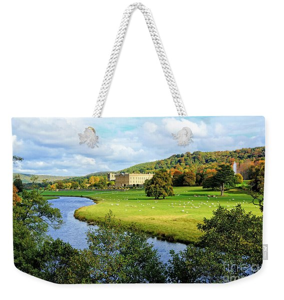Chatsworth House View Weekender Tote Bag