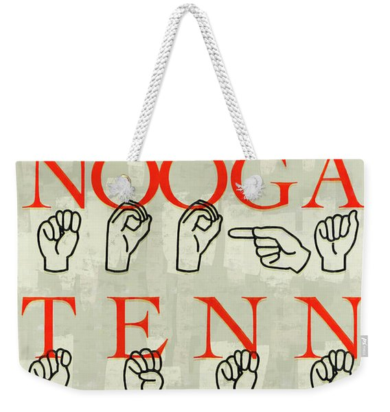 Chattanooga Sign Weekender Tote Bag