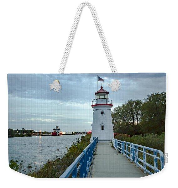 Cheboygan Crib Lighthouse Lake Huron, Lower Peninsula Mi Weekender Tote Bag