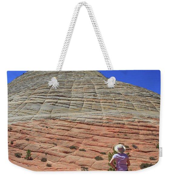 Checkerboard Mesa Zion National Park Weekender Tote Bag