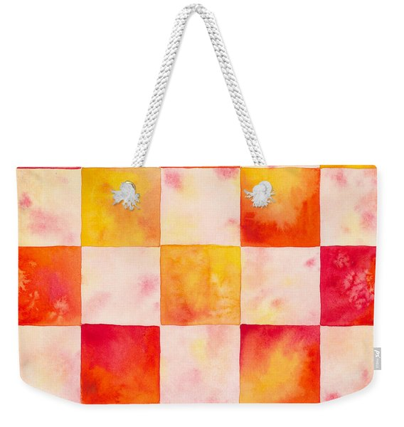Checkerboard Watercolor Weekender Tote Bag