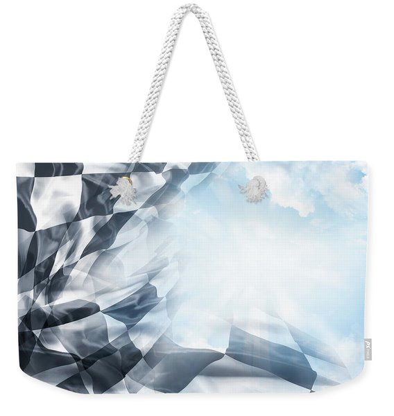 Checkered Flag And Sun 1 Weekender Tote Bag