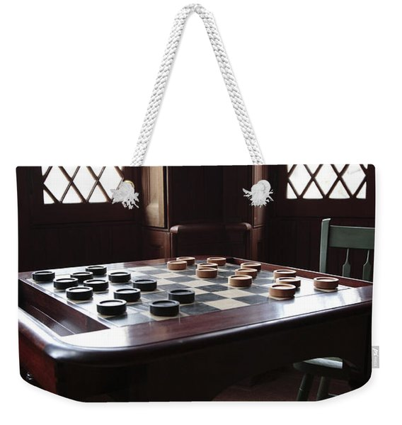 Checkers Table At The Lincoln Cottage In Washington Dc Weekender Tote Bag
