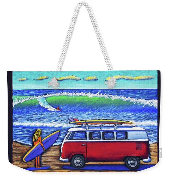 Checking Out The Waves Weekender Tote Bag