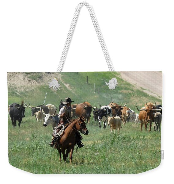 Checking The Cattle Weekender Tote Bag