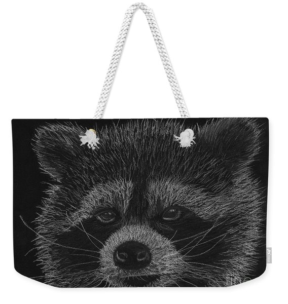 Cheeky Little Guy - Racoon Pastel Drawing Weekender Tote Bag