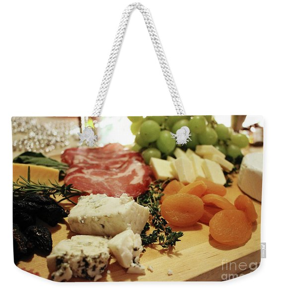 Cheese And Meat Weekender Tote Bag
