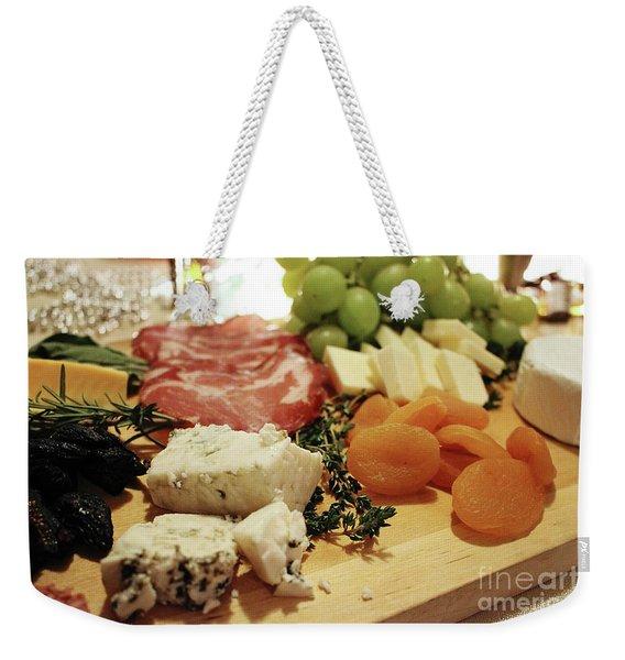 Cheese And Meat Weekender Tote Bag