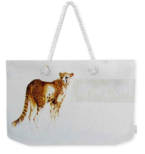Cheetah And Zebras Weekender Tote Bag