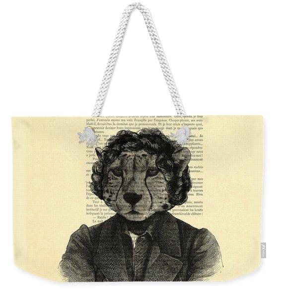 Cheetah On Dictionary Book Page Weekender Tote Bag